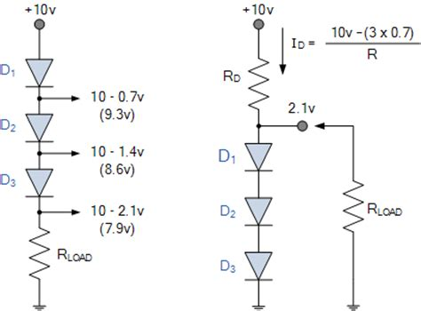 diode voltage drops signal diode and switching diode characteristics