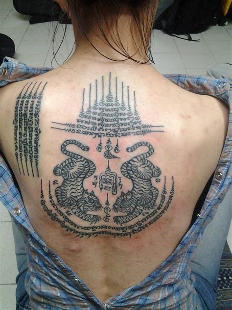 thai tiger tattoo designs sak yant