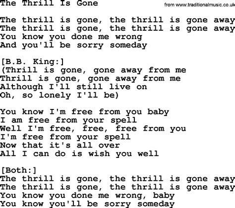 The Thrill Is by Willie Nelson Song The Thrill Is Lyrics
