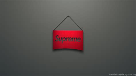 wallpapers  supreme logo red