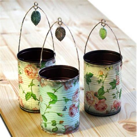 tutorial decoupage sobre metal decoupage metal tin cans craft video tutorial