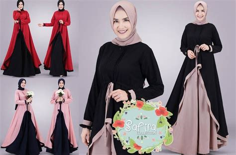 gamis muslim terbaru baju muslim terbaru chikalay set kulot vol 3 by safira collection