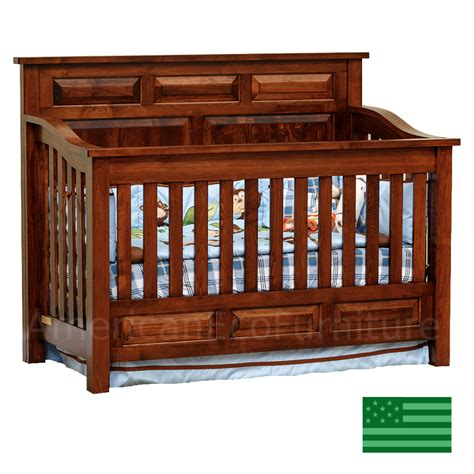Amish Peyton 4 In 1 Convertible Baby Crib Solid Wood Baby Wood Baby Cribs