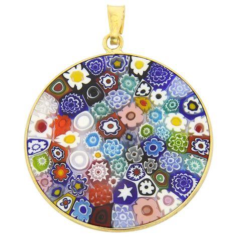 mille fiori millefiori pendants multicolor millefiori pendant in