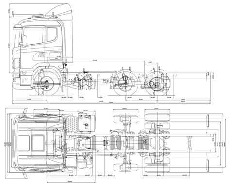 free blueprint scania lb 6x2 heavy truck blueprints free outlines