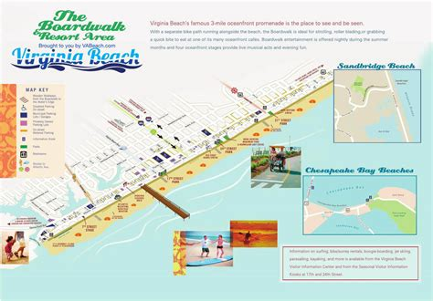 virginia resort area map and boardwalk basic virginia va