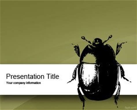 Bug Powerpoint Template Ppt Template Singing Bee Powerpoint Template