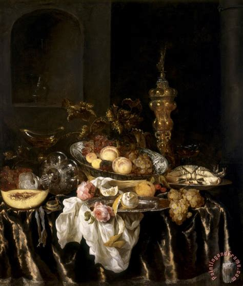 abraham van beyeren a banquet still life with roses