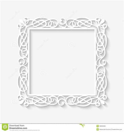 white pattern photo frame 15 rectangle vintage frame vector images black and white