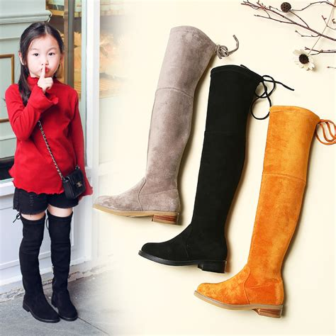 17 Most Fashionable The Knee Boots by Gamlon Children Knee Boots Shoes Knee Fashion
