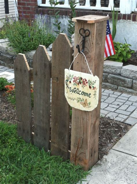 front yard l post great post and fence made from pallet crafts and ideas