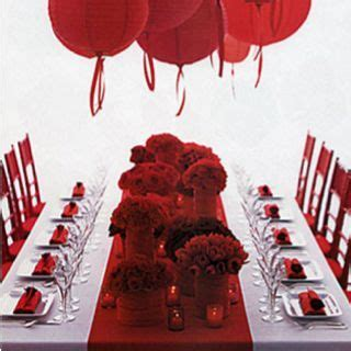 Ruby red table runner idea for mom & dads 40th anniversary