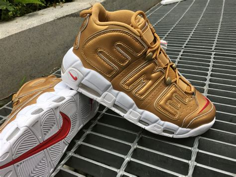 Nike Air More Up Tempo Gold White supreme x nike air more uptempo supreme x nike air more