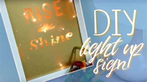 ersand light up sign diy light up sign affordable hipster decor youtube