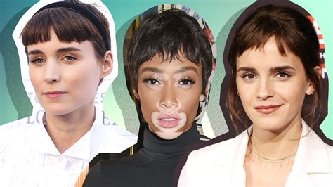 people who look better with bangs how to wear the baby bang hair trend like celebrities