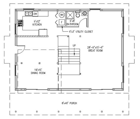 morton building plans with living area studio design