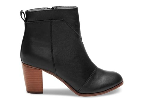 black leather s lunata booties toms 174