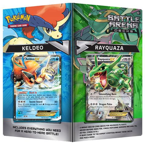Tcg Trading Card Battle Arena Decks Rayquaza Vs Keldeo Battle Arena Decks Rayquaza Vs Keldeo Sealed
