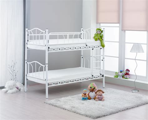 iron bunk beds white twin wrought iron bunk bed for kids of 15 gorgeous