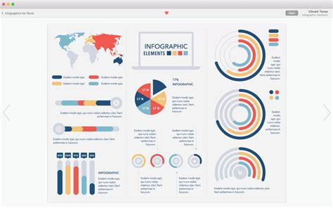 Infographics for MS Word   Template Bundle on the Mac App