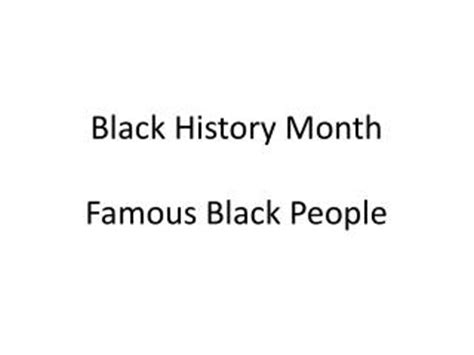 Ppt Famous Black Americans Powerpoint Presentation Id Black History Jeopardy Powerpoint