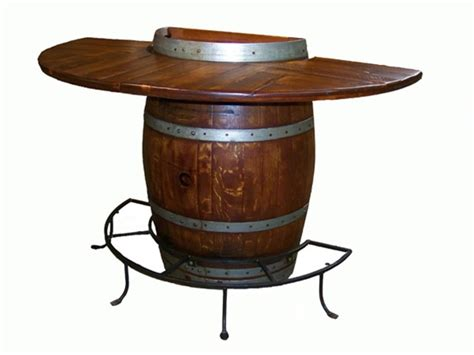 barrel bar table half wine barrel bar table