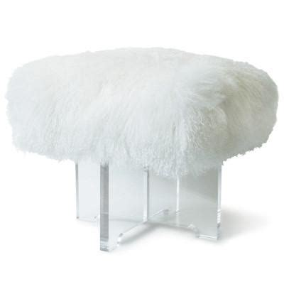 mongolian lamb bench jonathan adler mongolian lamb bench allmodern