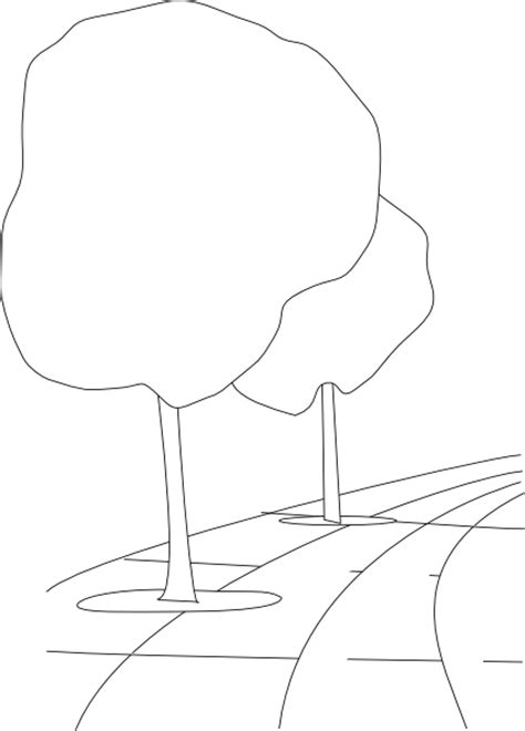 Parallelgraphics Outline 3d by Pavement Trees Outline 3d Clip At Clker Vector Clip Royalty Free
