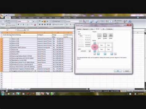 tutorial latihan excel 2007 tutorial 2 cara membuat tabel dan menambahkan background