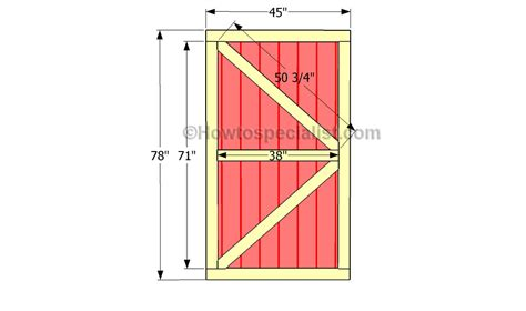 Framing Shed Door by Shed Door Plans Howtospecialist How To Build Step By