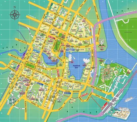map of for tourists maps update 31972079 tourist map of singapore city