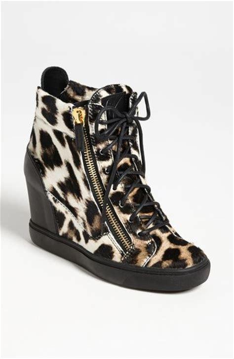 giuseppe zanotti sneaker wedge giuseppe zanotti wedge sneaker in black leopard lyst