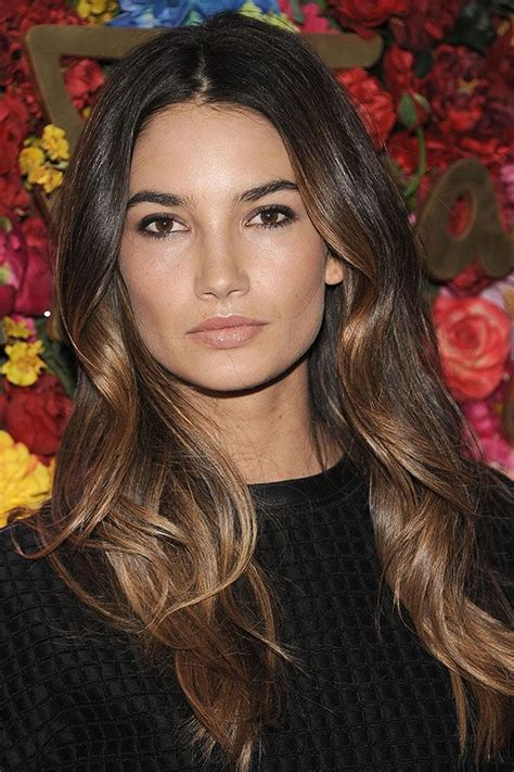 2014 fall hair color trends for brunettes 17 best ideas about lily aldridge hair on pinterest