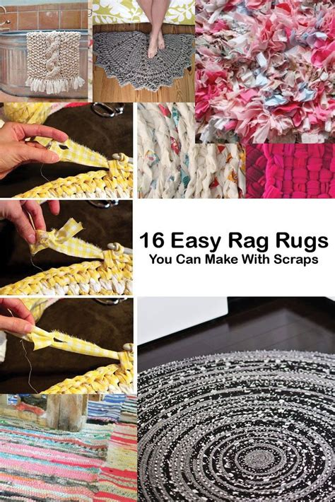 how do you make rag rugs 16 rag rugs you can make with scraps