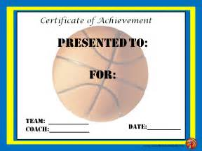 Basketball Mvp Certificate Template by Basketball Award Certificates Gift Ideas