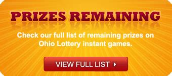 instant games the ohio lottery - Lottery Instant Wins Prizes Remaining