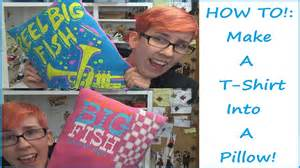 tutorial t shirt pillow sewing