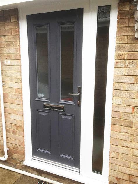 Grey Is The New Black Altmore Composite Door With Full Front Doors Glazed