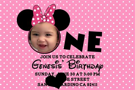 free minnie mouse 1st birthday invitations templates minnie mouse birthday invitations personalized bagvania