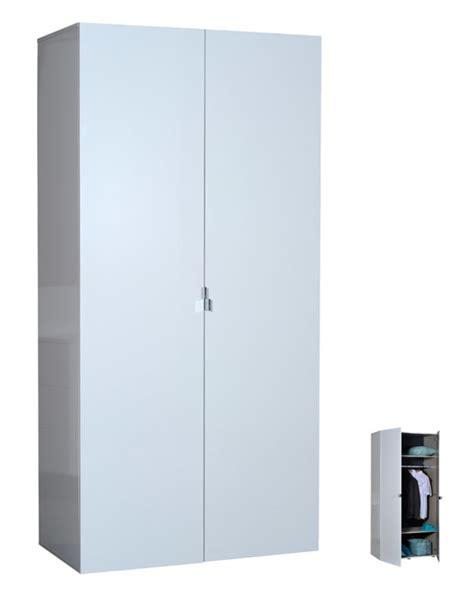 armoire blanche 2 portes armoire 2 portes blanche blanc brillant