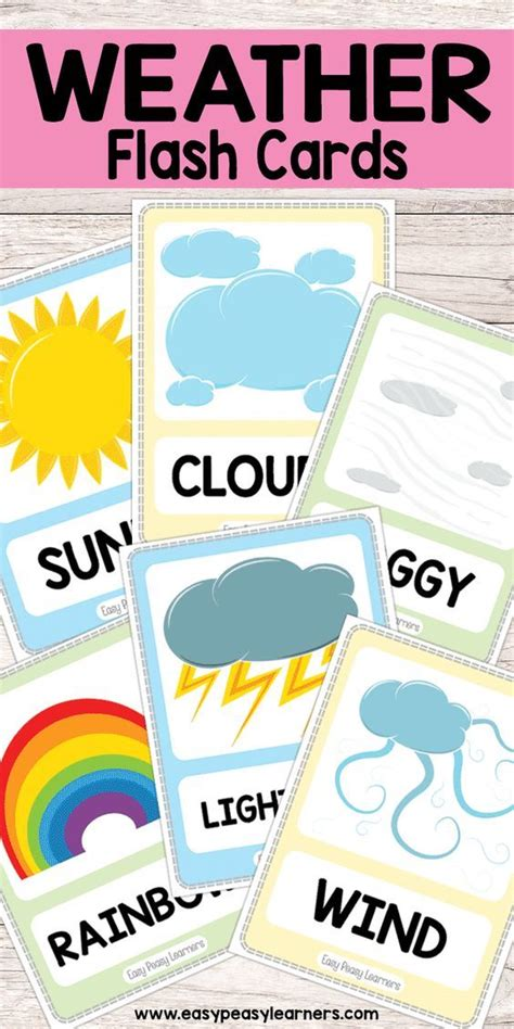 theme for education day free printable weather flash cards weather theme for
