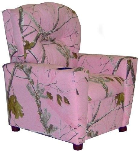 pink camo childrens recliner kids camo pink w 2f real tree fabric recliner w 2f cup