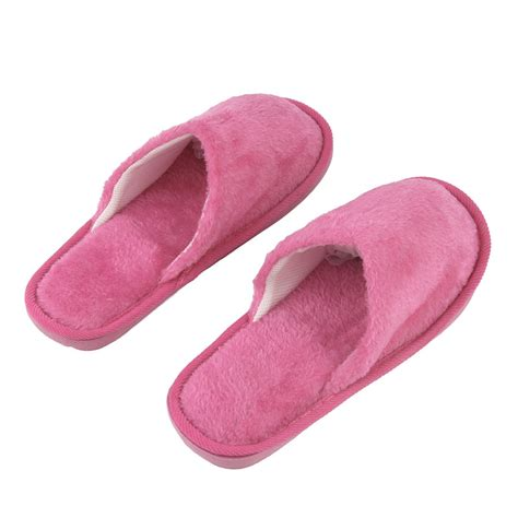 womens soft slippers plush indoor home anti slip shoes soft warm