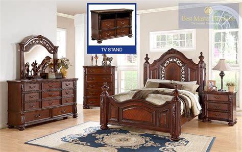 cherry finish bedroom furniture best furniture 4 pc b619 dark cherry finish bedroom set