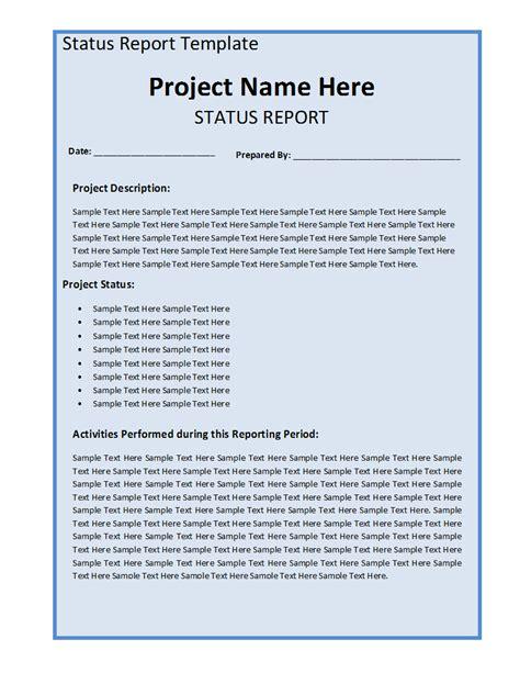project status report template svptraining info