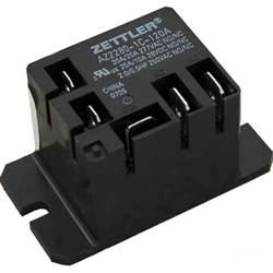 zettler relay spdt 30 amp 120 volt coil az2280 1c 120a