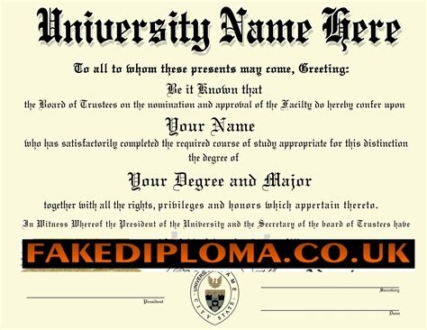 fake diploma certificate template 5 all templates deal