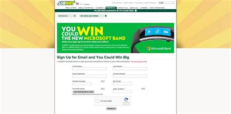 November Sweepstakes - subway november freshbuzz sweepstakes