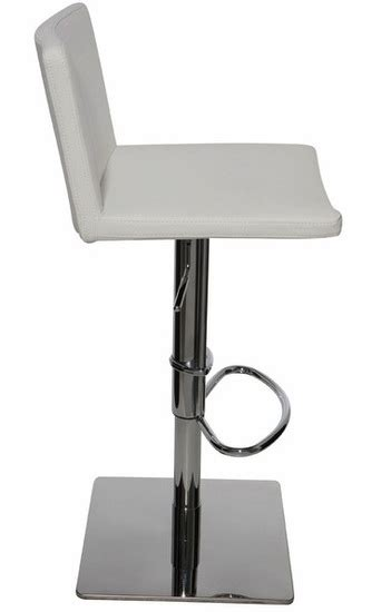 gia adjustable stool white leather contemporary bar nuevo gia bar stool modern adjustable bar counter stools