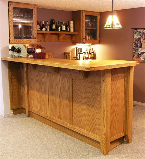 Kitchen Furniture Edmonton custom oak basement bar traditional home bar